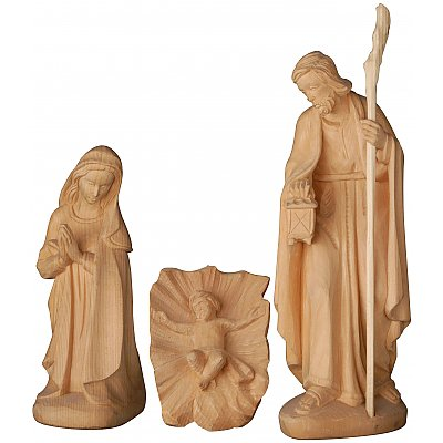 Nativity set in swiss stone pine