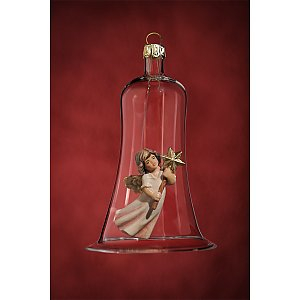 6625 - Glass bell with angel flying