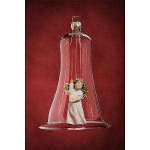 6626 - Glass bell with angel candle