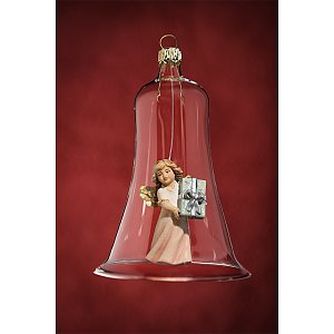 6632 - Glass bell with angel present