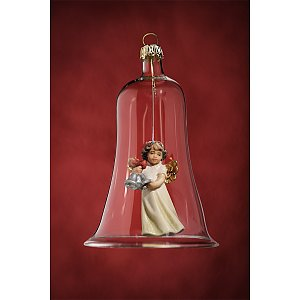 6633 - Glass bell with angel bells