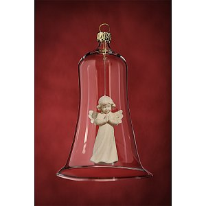 6635 - Glass bell with angel praying