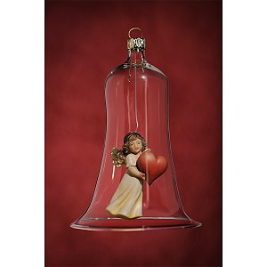 6636 - Glass bell with angel heart