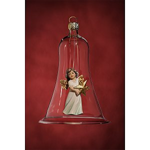 6637 - Glass bell with angel star