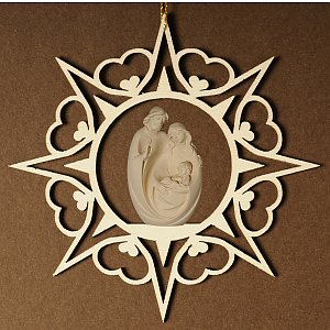 6907 - Heart star with Holy Family