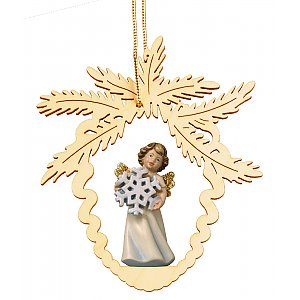 6944 - Fir cone with angel snowflake