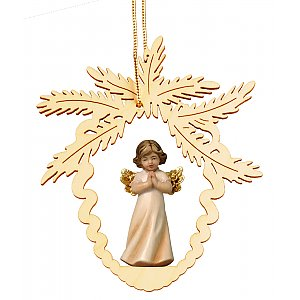 6951 - Fir cone with angel praying