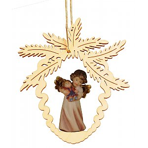 6955 - Fir cone with angel doll