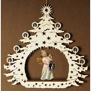 7033 - Christmas Tree with angel with latern