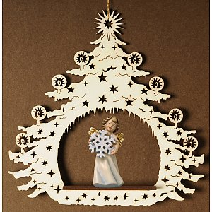 7034 - Christmas Tree with angel snow flake