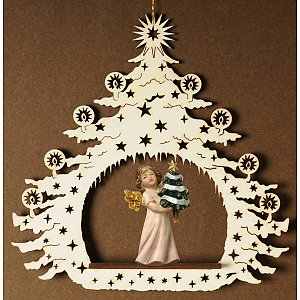 7037 - Christmas Tree, angel and fir tree