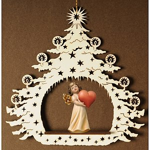 7042 - Christmas Tree  with angel heart