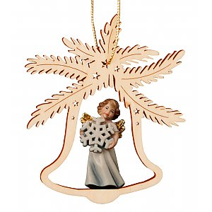 7054 - Bell with angel snowflake