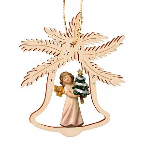 7057 - Bell with angel fir tree