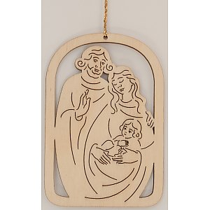 9603 - Laser - Decoration with family 10 pcs