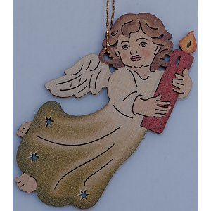 9609 - Laser - Angel with candle 10 pcs