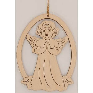 9612 - Laser - Decoration with angel praying 10 pcs