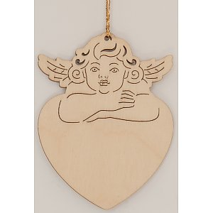 9615 - Laser - Angel on heart 10 pcs