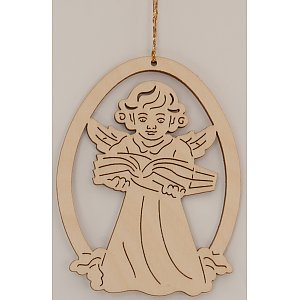 9616 - Laser - Decoration with angel with Book 10 pcs