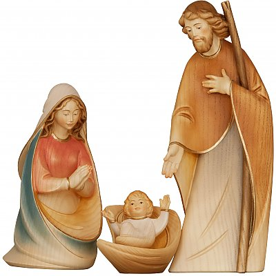 Morgenstern Nativity in wood - Salcher