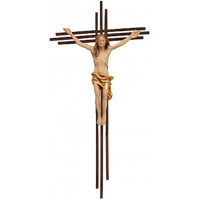 wood Crucifixes on Crosses of stainless steel/steel