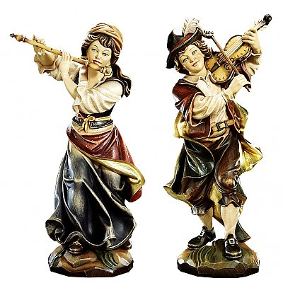 Sculptures of musicians - Val Gardena Arts Sculpture