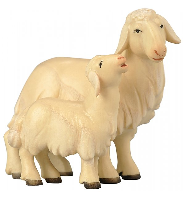 1855 - Sheep with lamb COLOR