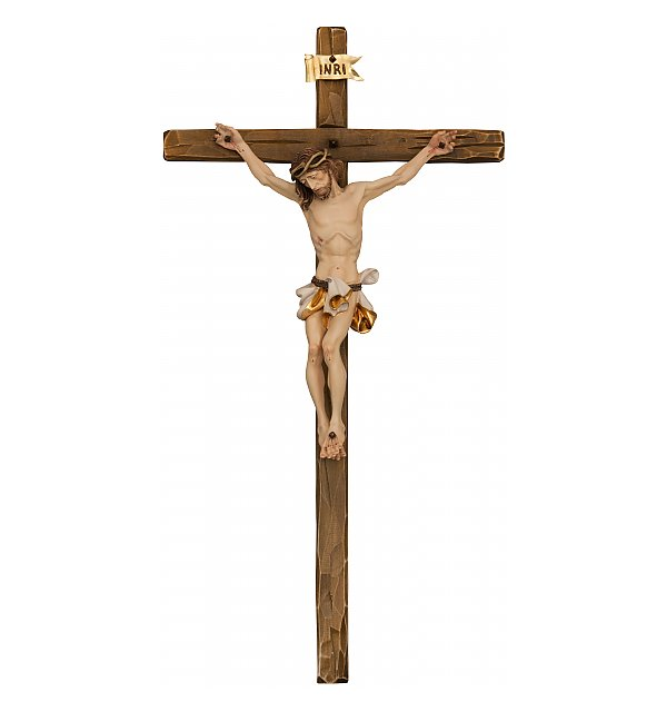 3060 - Baroque Crucifix with straight cross COLOR_WEIS