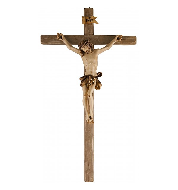 3060 - Baroque Crucifix with straight cross LASUR