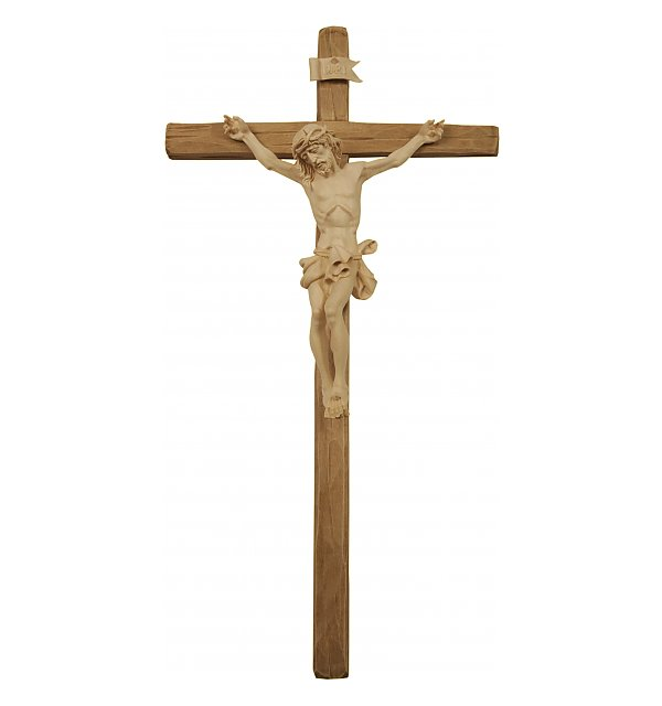 3060 - Baroque Crucifix with straight cross NATUR
