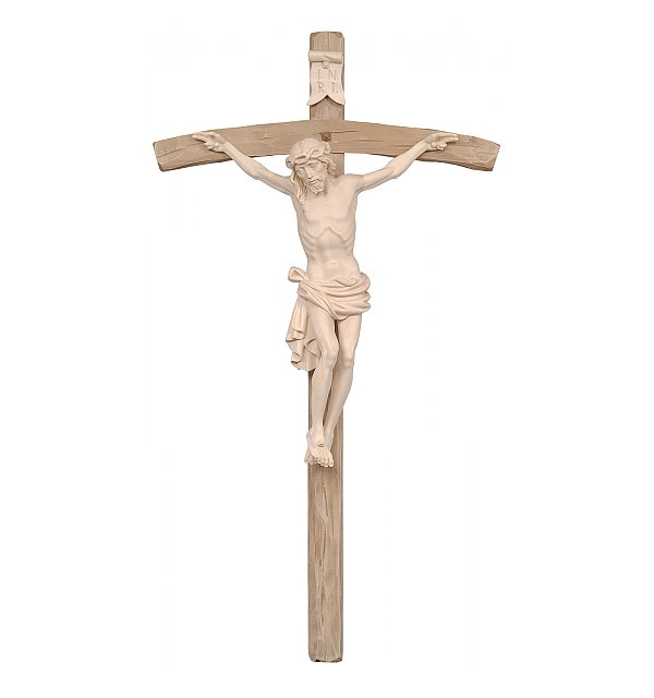 3163 - Dolomite Crucifix on curved cross NATUR