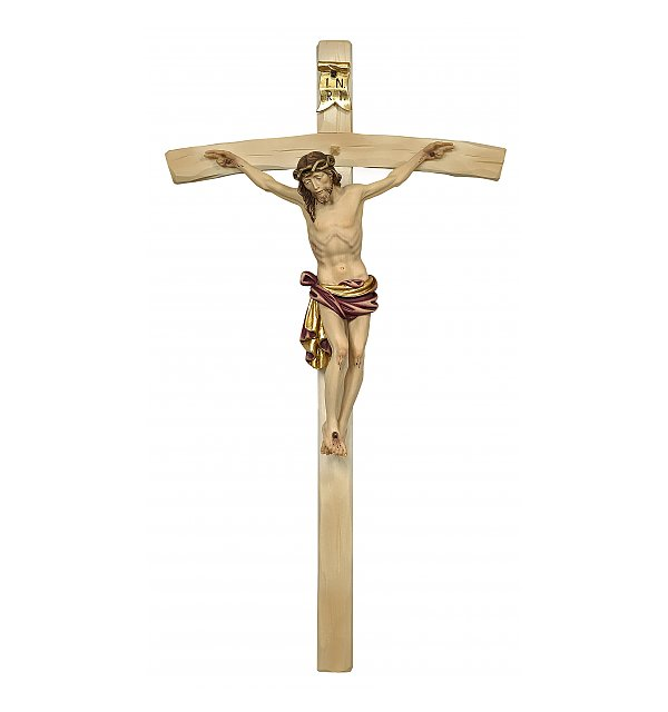 3163 - Dolomite Crucifix on curved cross COLOR_ROT