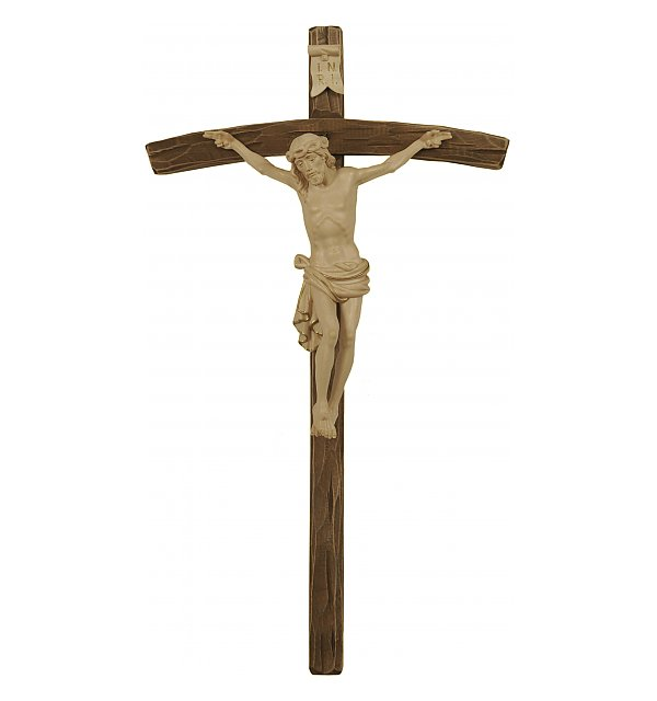 3163 - Dolomite Crucifix on curved cross GOLDSTRICH