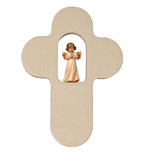 31890 - Crucifix for children with praying Angel, 4 cm COLOR