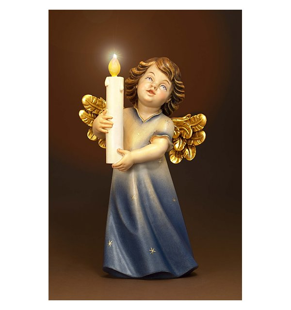 6211 - Mary angel with candle and illumination COLOR
