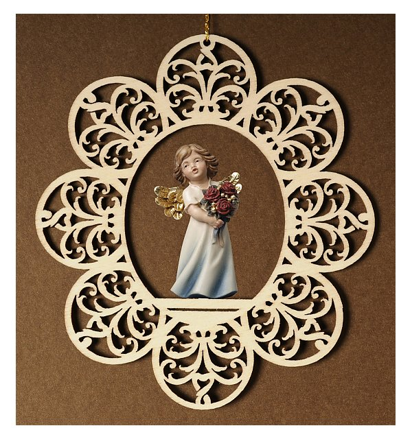 6784 - Ornament with angel roses