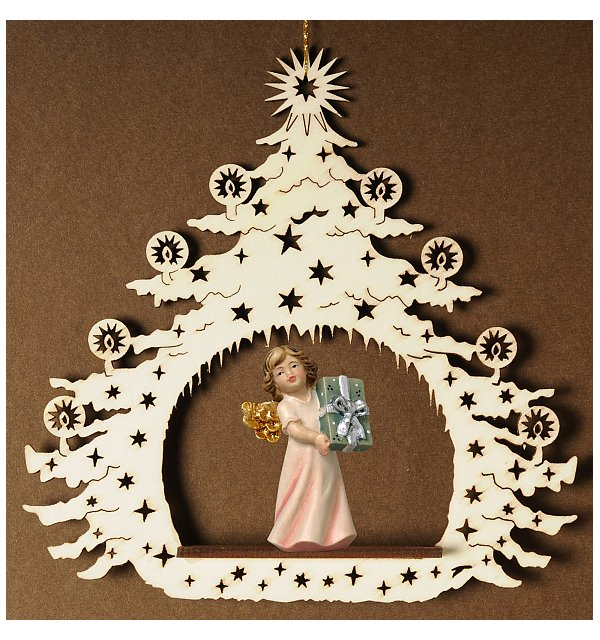 7038 - Christmas Tree with angel present