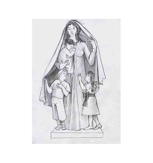 9905 - Saint Mary with children