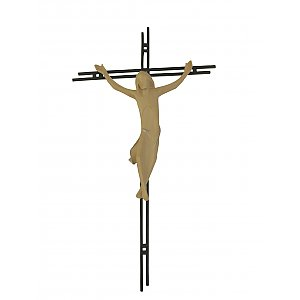 3156 - Crucifix, with a double bar made of steel