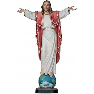 3214 - Risen Christ statue Cross standing Sculpture