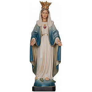 3304 - Immaculate Heart of Mary & crown wooden Statue