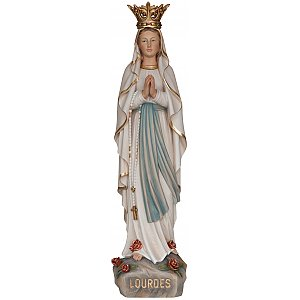 33251 - Our Lady of Lourdes with crown wooden Valgardena