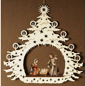 7120 - Christmas Tree with Holy Family 4 cm
