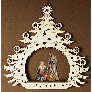 7124 - Christmas Tree with Holy Family Salcher