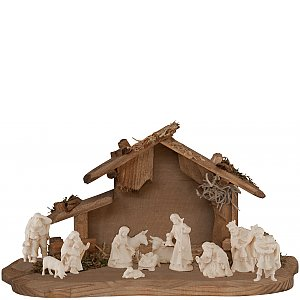 7301 - Crib set of 12 items, 4 cm in size
