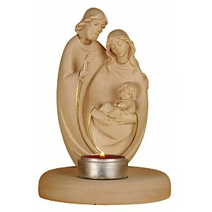 Candle light holder with Holy Family