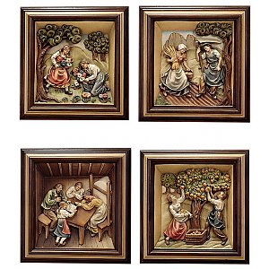 KD1300 - 4 reliefs 4 seasons with frame