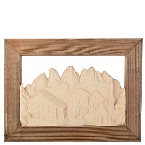 KD1316R - Scenery church with frame